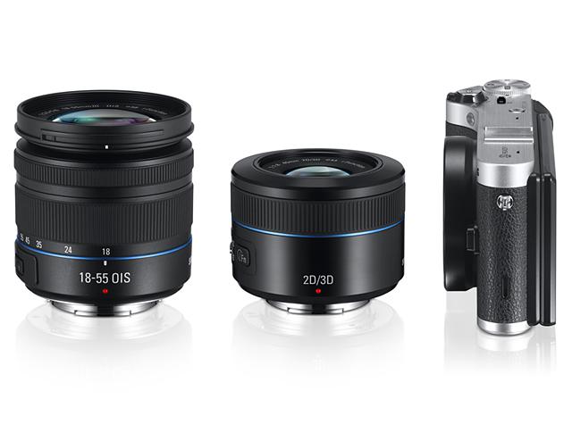 samsung_nx300_camera_with_stock3D_lenses Samsung NX mirrorless camera goes 3D News and Reviews