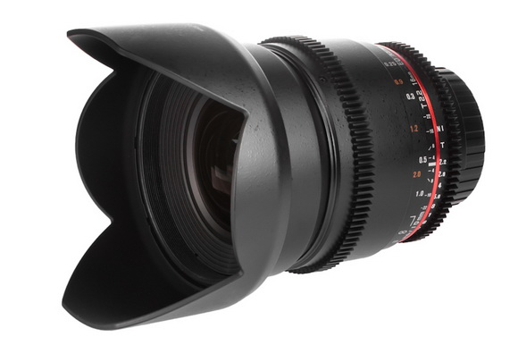 Samyang 16mm T2.2 cinema lens