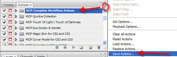 saving-a-modified-action Quick Tip: How to get rid of STOPS in photoshop actions? Photoshop Tips & Tutorials