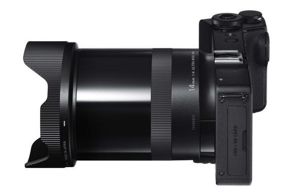 Sigma dp0 Quattro 14mm f/4 lens