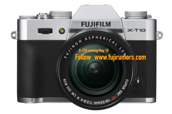 Silver Fujifilm X-T10 photo leaked