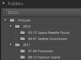 simple_folder_structure Avoiding a Lightroom Folder Mess -- Lightroom Import Basics Guest Bloggers Lightroom Tutorials
