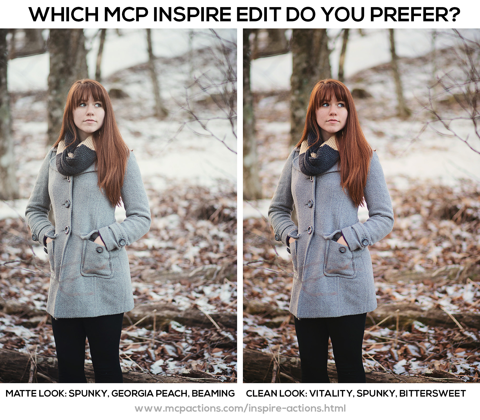 snow-looks How to Photograph and Edit Portraits in the Snow Photography Tips Photoshop Actions Photoshop Tips & Tutorials
