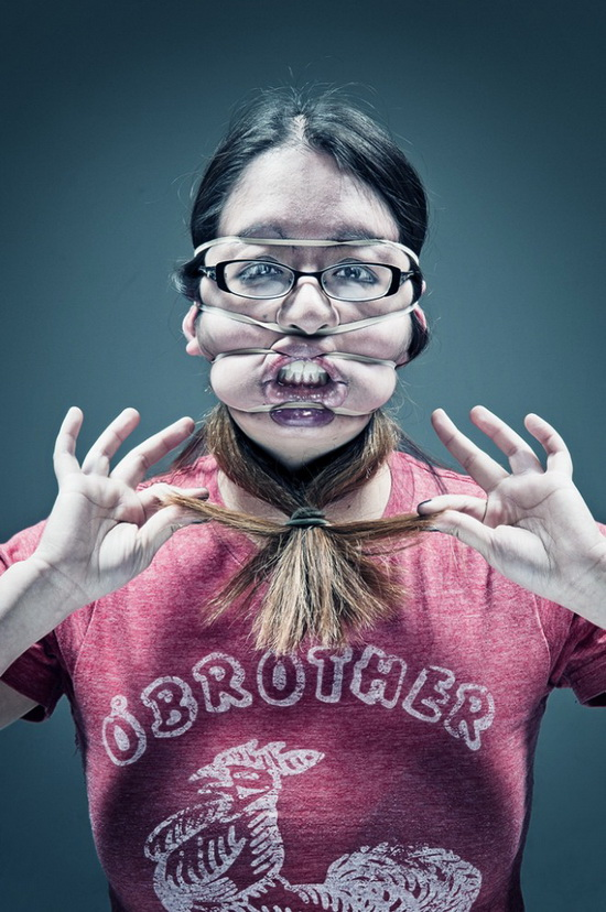 so-say-we-all-amy-keyohara Artists put rubber bands on their faces in painful photo shoot Exposure
