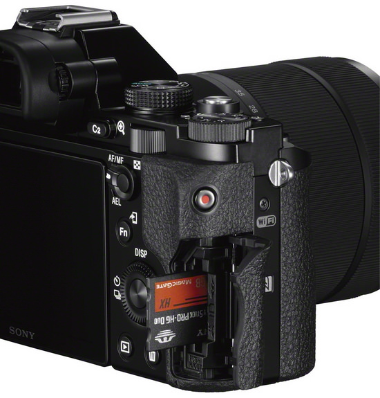 sony-a7s-card-slot Sony A7S mirrorless camera announced with 4K video recording News and Reviews