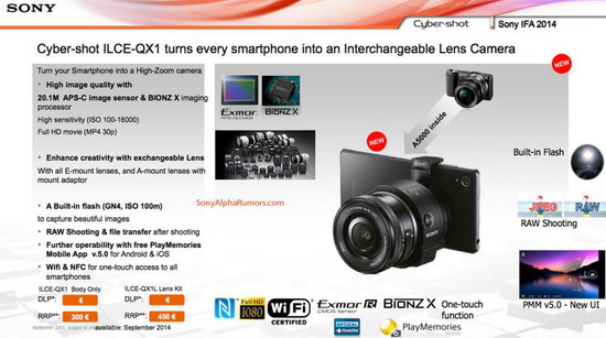 sony-ilce-qx1-slide-leaked Sony ILCE-QX1 release date, price, and more specs revealed Rumors