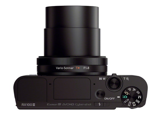 sony-rx100-iii-top Sony RX100 III camera announced with a slew of new features News and Reviews