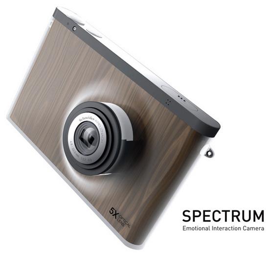 spectrum-concept-camera Chameleon-inspired Spectrum Camera Concept features a flexible display Exposure