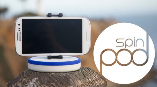 spinpod-smartphone-panorama SpinPod allows smartphone users to take proper panorama photos Fun