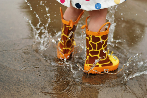 splashing-in-puddles April Showers - Photos of Rain, Umbrellas, Boots, and More... Activities Photo Sharing & Inspiration