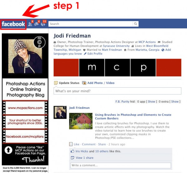step1-600x555 Fix Broken Facebook: Guide to Help Photography Businesses Announcements Social Networking