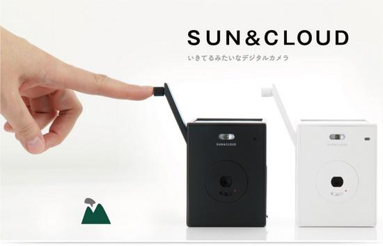sun-and-cloud-hand-crank Superheadz Japan introduces Sun & Cloud self-generating camera News and Reviews