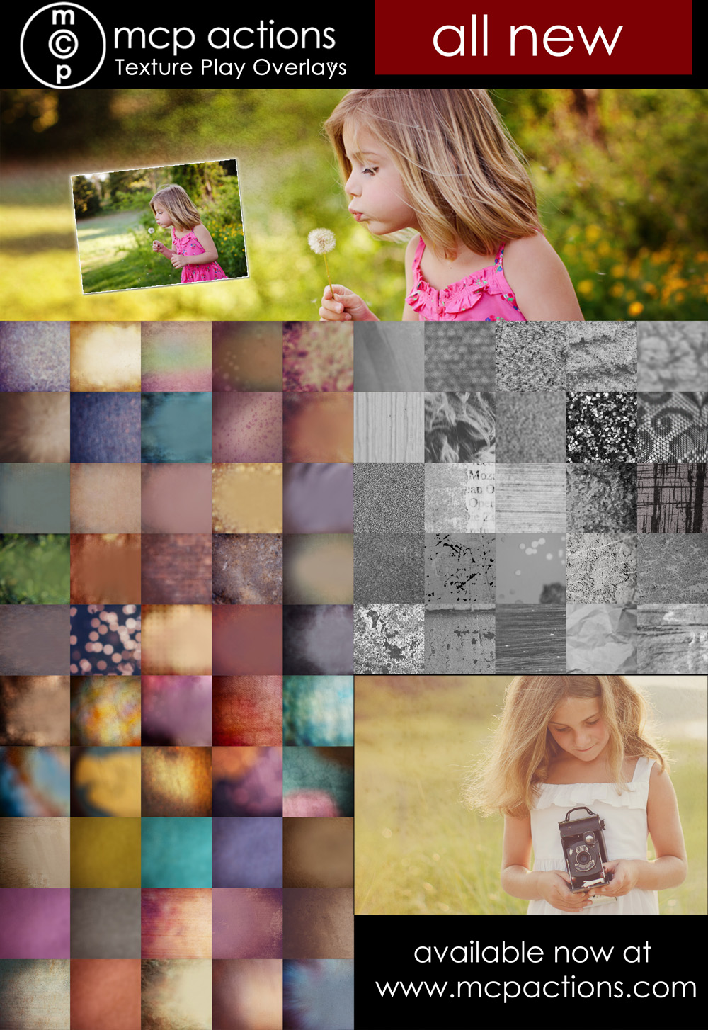 swatches-sm3 NOW AVAILABLE: MCP Texture Play Overlays PLUS a Free Gift! Announcements Free Actions