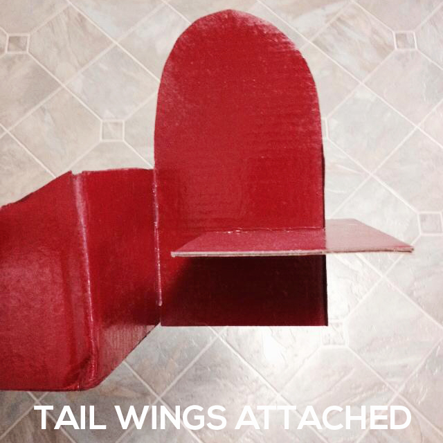 tail-wings-attached Make a DIY Box Airplane Prop for Newborn Photography Guest Bloggers Photography Tips Uncategorized
