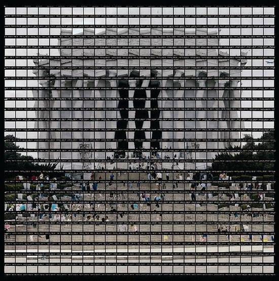 thomas-kellner-lincoln-memorial-washington Huge panorama photos made out of 35mm film strips by Thomas Kellner Exposure