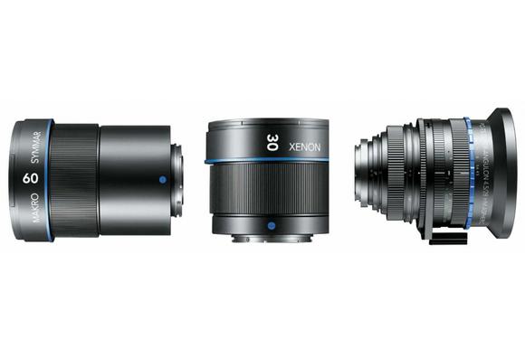 Three Schneider-Kreuznach lenses