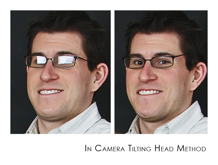 tilt-head 6 Quick Ways to Getting Rid of Glare on Glasses Photography Tips Photoshop Tips & Tutorials