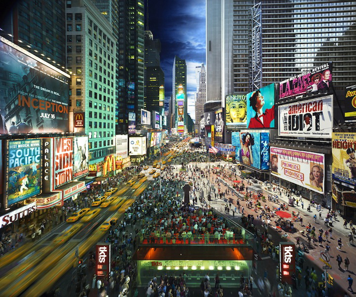 "times-square ""Day To Night"" shows what happens in New York City in a day Exposure"