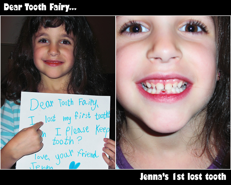 toothfairy-collage Another Tooth Fairy Report... Jenna lost her first tooth, sort of... Photo Sharing & Inspiration