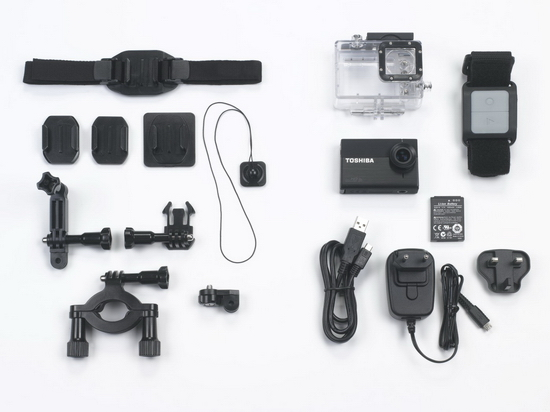 toshiba-camileo-x-sports-accessories Toshiba Camileo X-Sports ready to compete against GoPro Heros News and Reviews