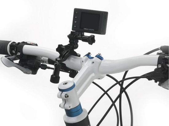 toshiba-camileo-x-sports-bike-mount Toshiba Camileo X-Sports ready to compete against GoPro Heros News and Reviews