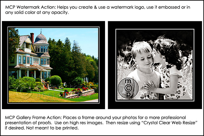 watermark-frame Free MCP Photoshop Actions * Hurry and Get Them Discounts, Deals & Coupons Free Actions