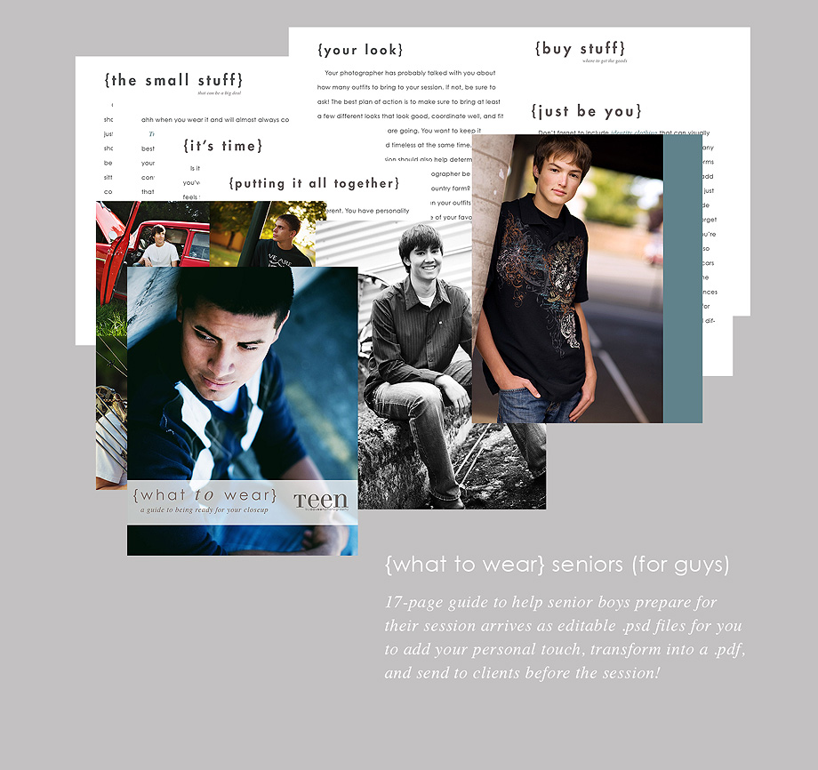 what-to-wear-seniors-promo-2 CONTEST: $1,900 worth of Prizes - WordSmith Guides to Help Your Photography Business Business Tips Contests