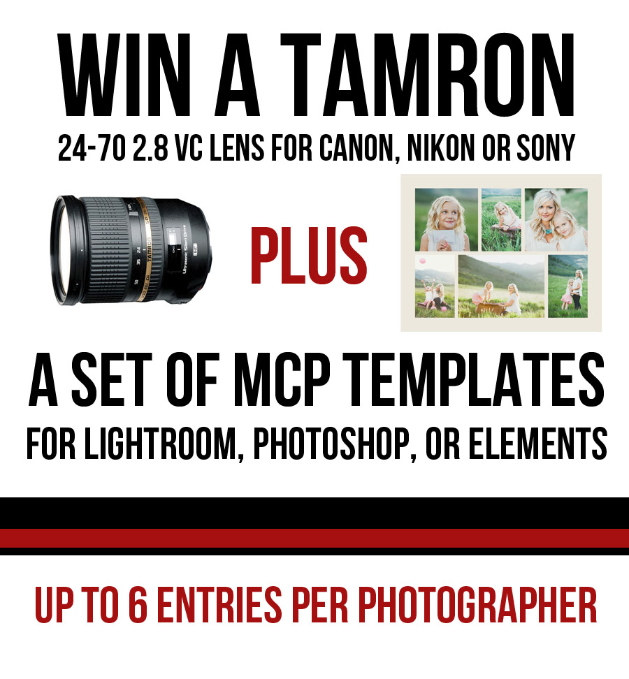 win-a-tamron-graphic Win a Tamron Lens 24-70 2.8 VC + Photoshop Actions or Lightroom Presets Announcements Contests Lightroom Presets Photoshop Actions