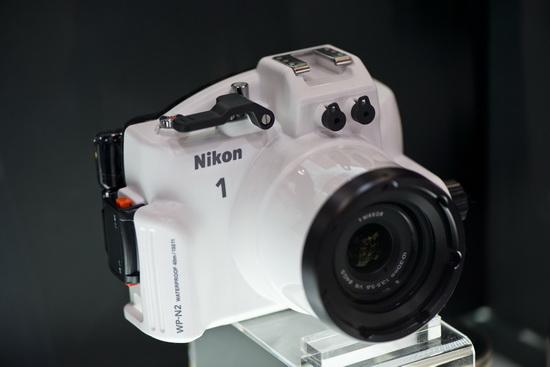 wp-n2-waterproof-casing-nikon-1-cp-plus-2013 Beautiful Nikon booth babes at the CP+ Camera Show 2013 Fun