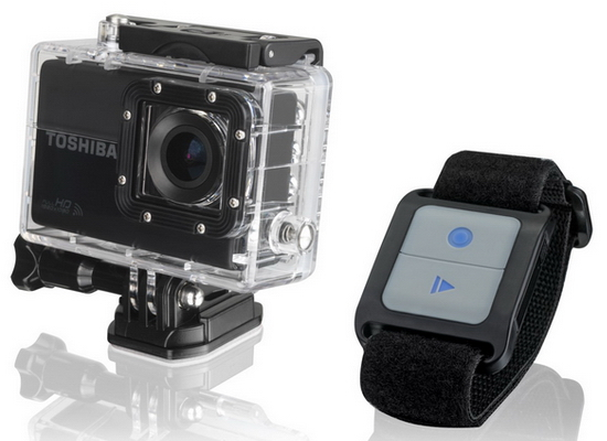 wristband-remote-control Toshiba Camileo X-Sports ready to compete against GoPro Heros News and Reviews