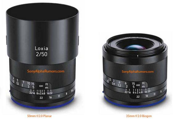 Zeiss Loxia lenses