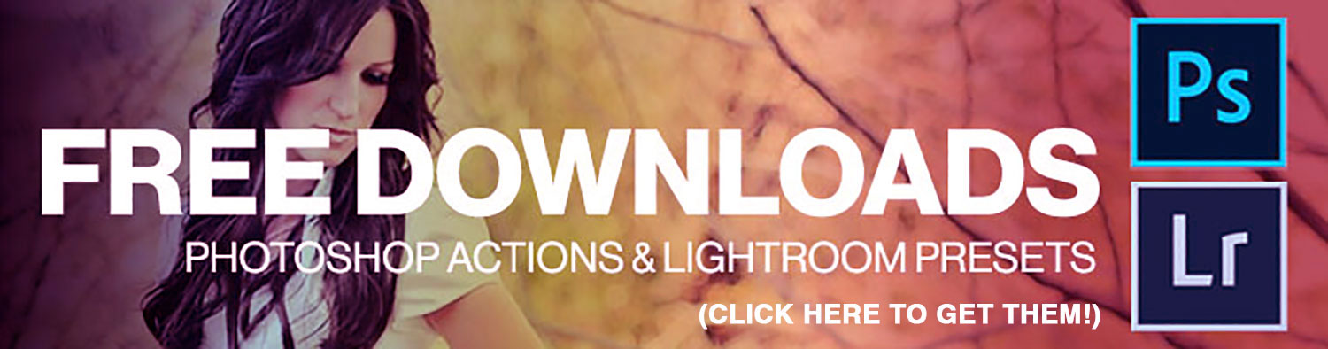 Free downloads of Photoshop actions, Lightroom Presets, and Overlays