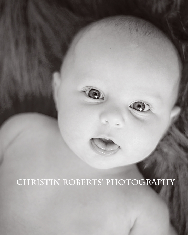 edit2bnw 2 Month Old; In Black and White