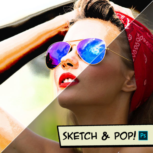 Sketch & Pop Photoshop Actions